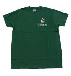 T-SHIRT HOUSE COLOUR GREEN